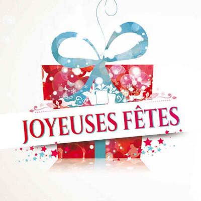 Joyeuses Fêtes paquet cadeau multi