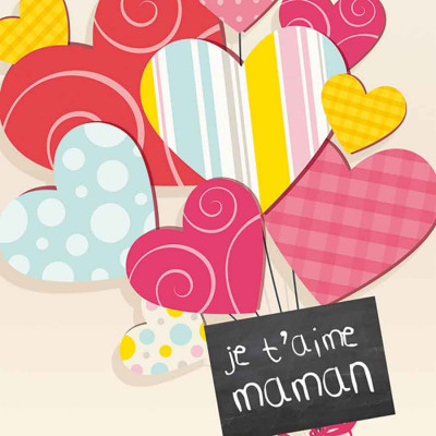 Bonne Fête Maman ballon coeur