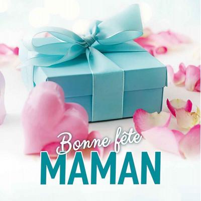 Bonne Fête Maman Cadeau bleu