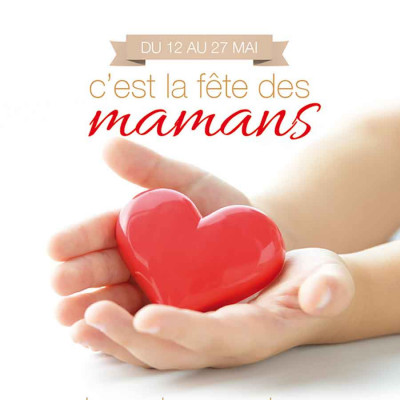 Bonne Fête Maman coeur mains