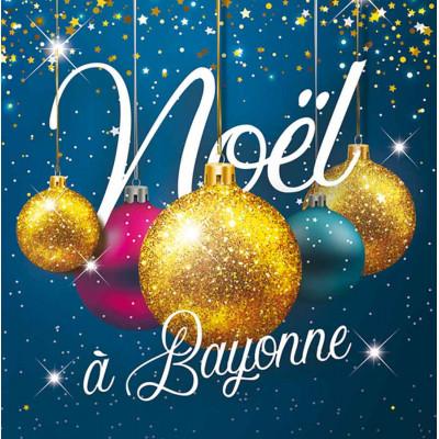 Joyeux Noël or et bleu